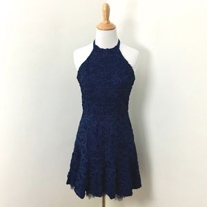BCBG Basanti Navy Blue Dress
